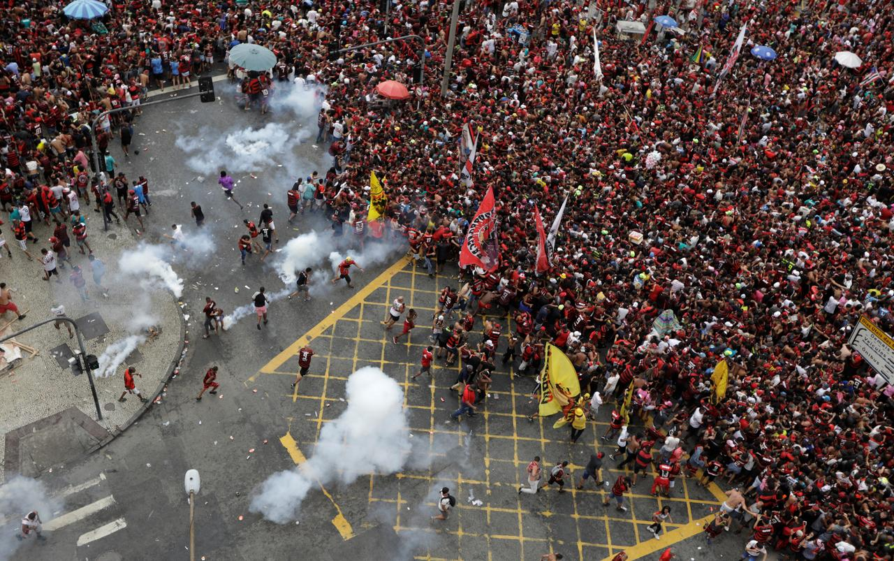 Flamengo Celebrations End With Clashes