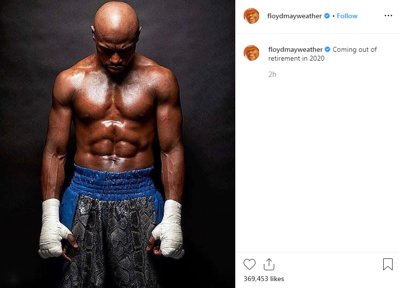 mayweather retirement ends