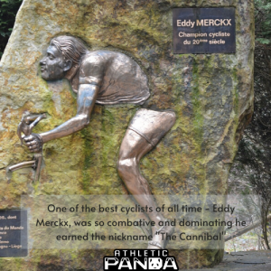 "Eddie Merckx memorial, ""The Cannibal"""